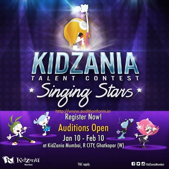 KidZania Singing Stars 2014 Registration Form