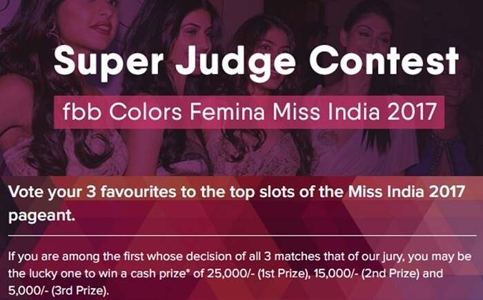 Miss India 2017 Super Judge Contest Registration