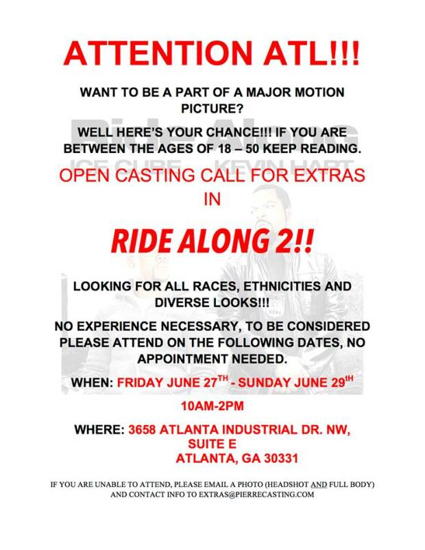 Open casting call for Ride Along 2 in Atlanta