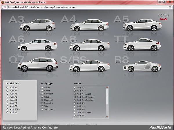 Review New Audi Of America Configurator AudiWorld