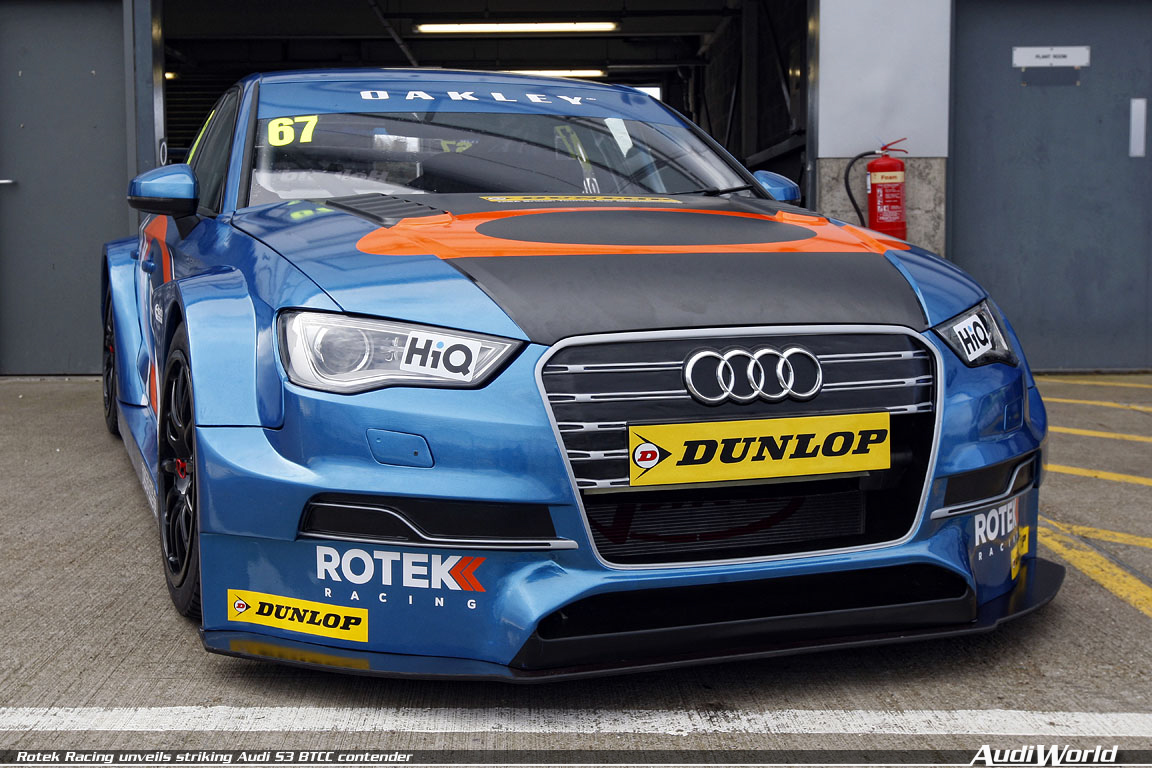 8e7beafa25 Rotek Racing officially unveiled its striking Oakley Motorsports-liveried Audi  S3 saloon during the 2014 Dunlop MSA British Touring Car Championship s ...