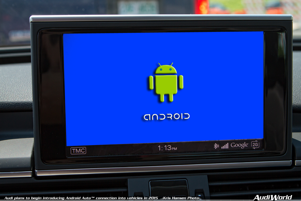 Audi plans to begin introducing Android Auto™ connection into vehicles in 2015