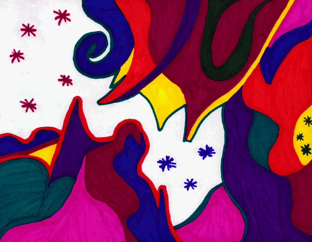 Jawbreaker, ink abstract art by Audra Arr.