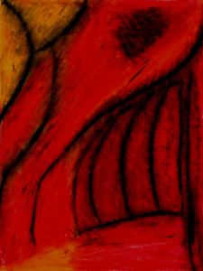 abstract art, wax, audra arr, red, fire, burning