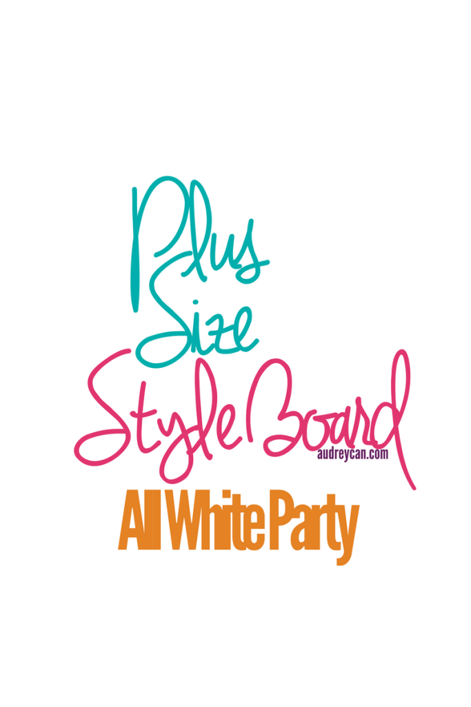 Plus Size Style Board: All White Party