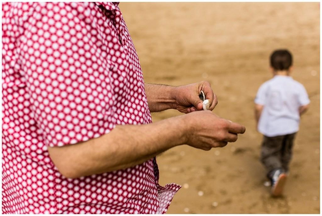 ramasser des coquillages