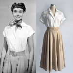 Audrey Hepburn white shirt from Roman holiday – a beautiful replica of the iconic shirt