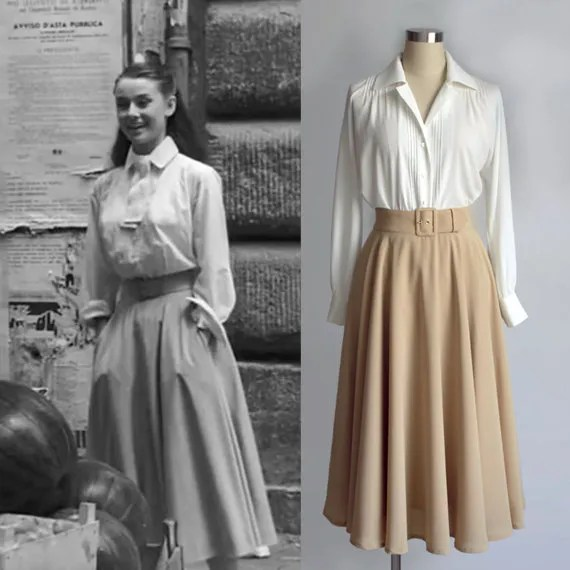 Audrey Hepburn White shirt from Roman holiday