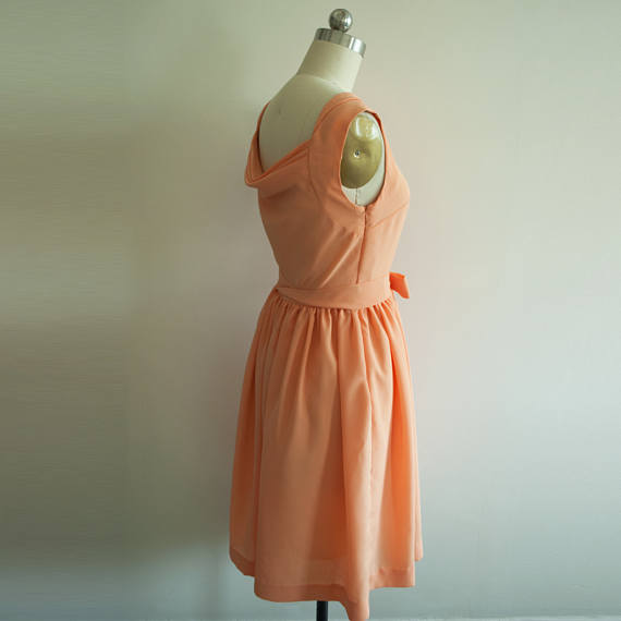 Audrey Hepburn Orange Dress from Paris When it Sizzles