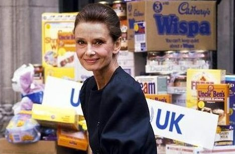 Audrey Hepburn Grocery Shopping UNICEF