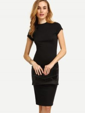 Breakfast at tiffanys's black pencil dress