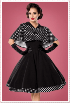 Audrey Hepburn Dress Dots Elegant