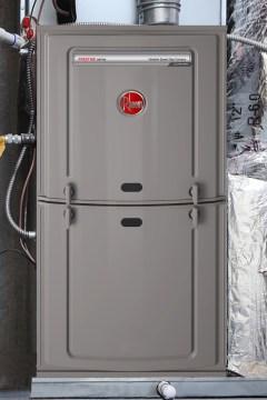 An Installed Rheem 80 Gas Furnace