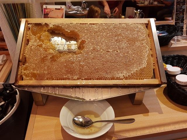 Honigwabe beim Frühstück im Crown Plaza Frankfurt
