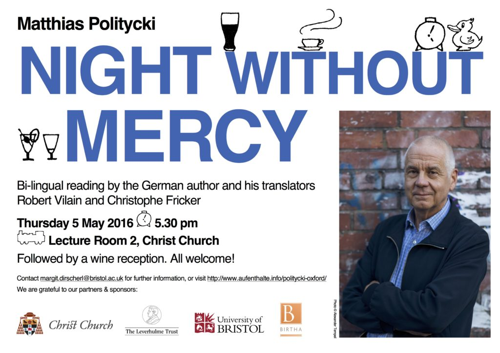 Matthias Politycki in Oxford