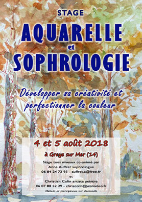 stage de sophrologie - developpement personnel - aquarelle