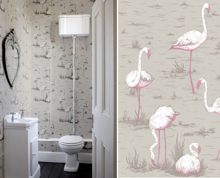 papier peint flamingo cole and son