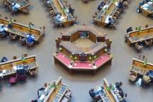 Australien-StateLibrary-Lesesaal-von-oben