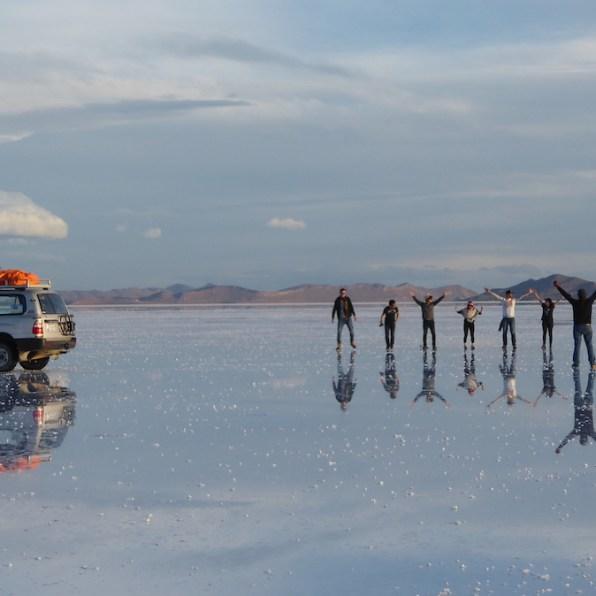 Bolivien-Uyuni-Gruppensprung
