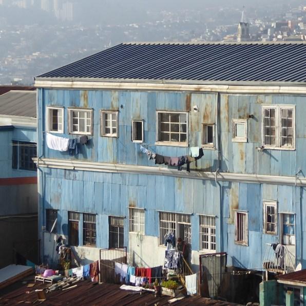 Chile-Valparaiso-Haus-Waesche