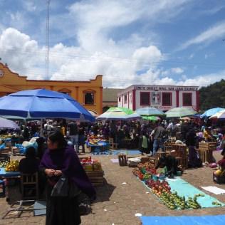 Der Markt in Chamula in der Nähe von San Cristobal de las Casas.