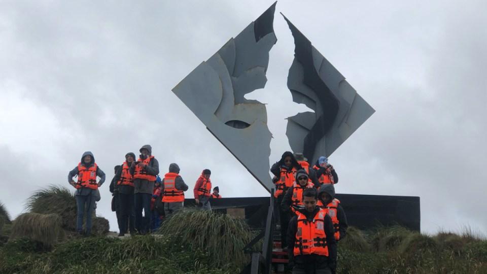 Kunstwerk auf Kap Hoorn