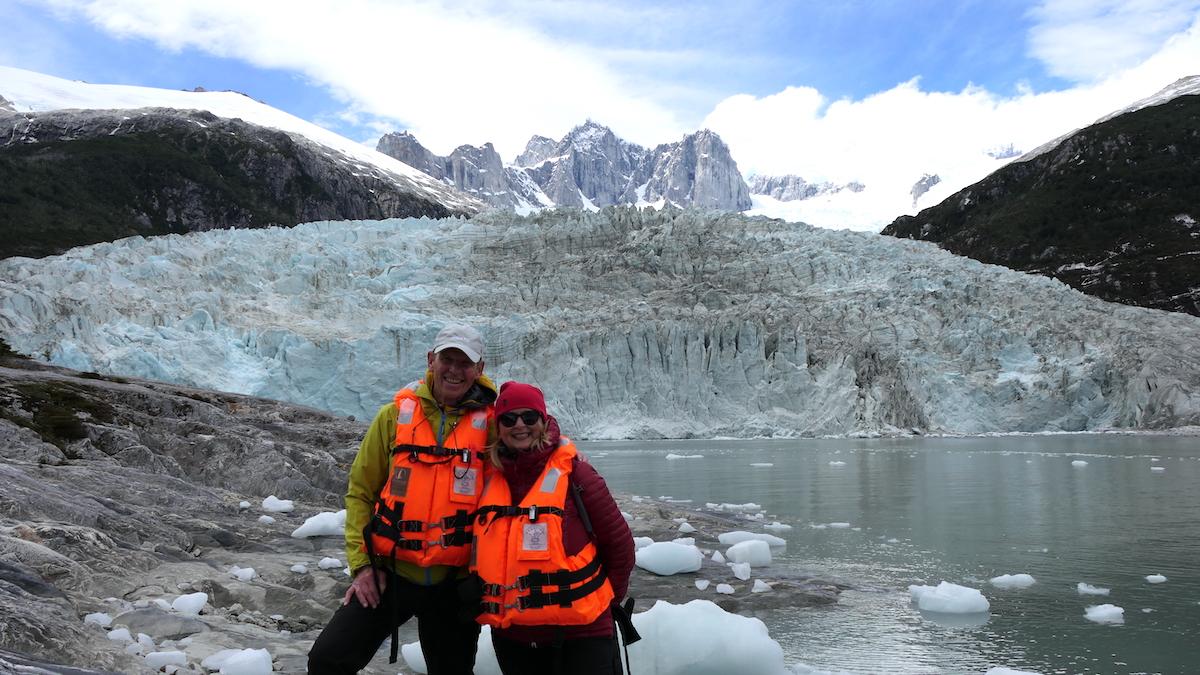 Wolfgang und Elke am Pia-Gletscher