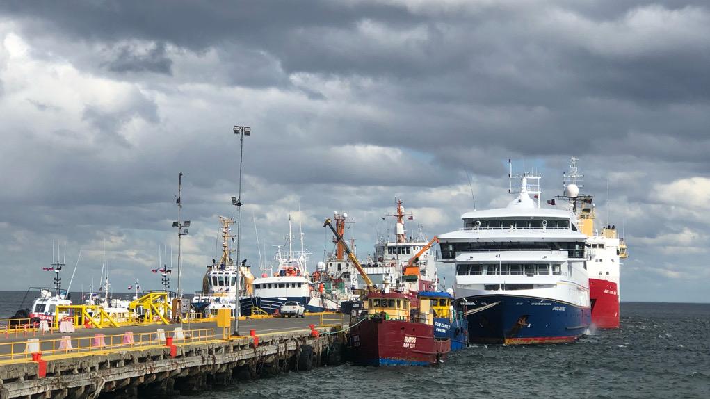 Die Ventus Australis im Hafen von Punta Arenas