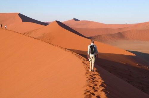 gute Nachrichten: erreichen uns auch in der Wüste Namib