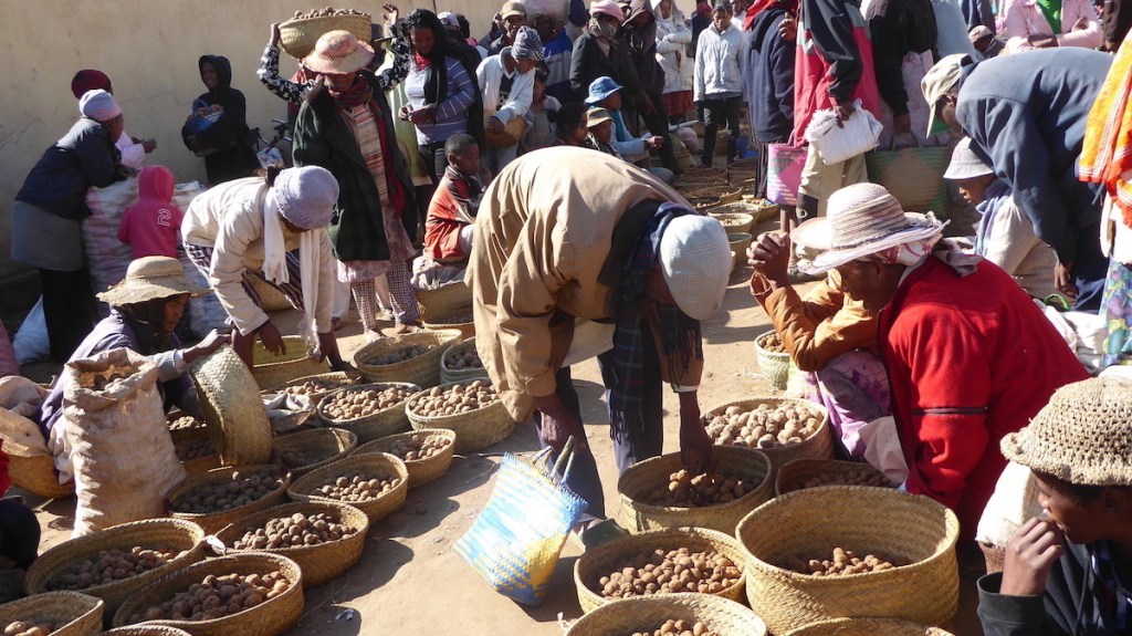 Marktszene auf Madagaskar