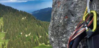 Ettaler Manndl über Weiblkante: der Einstieg