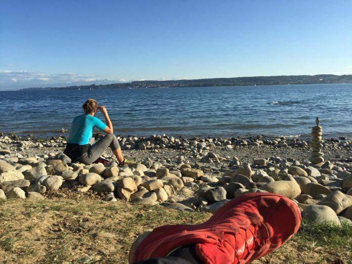 Wanderweg Seegang: Ankunft am Strand in Überlingen