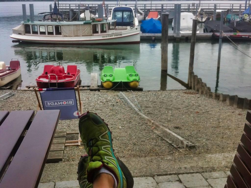 Wanderweg Seegang: Regenpause in Bodman