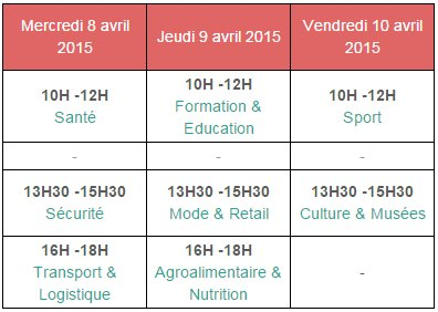 La liste des thèmes de workshop à Laval Virtual 2015