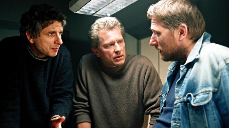 Franz Leitmayr (Udo Wachtveitl), Ivo Batic (Miroslav Nemec) and Carlo Menzinger (Michael Fitz).  In the first crime voting of the first, the Munich crime scene sits down