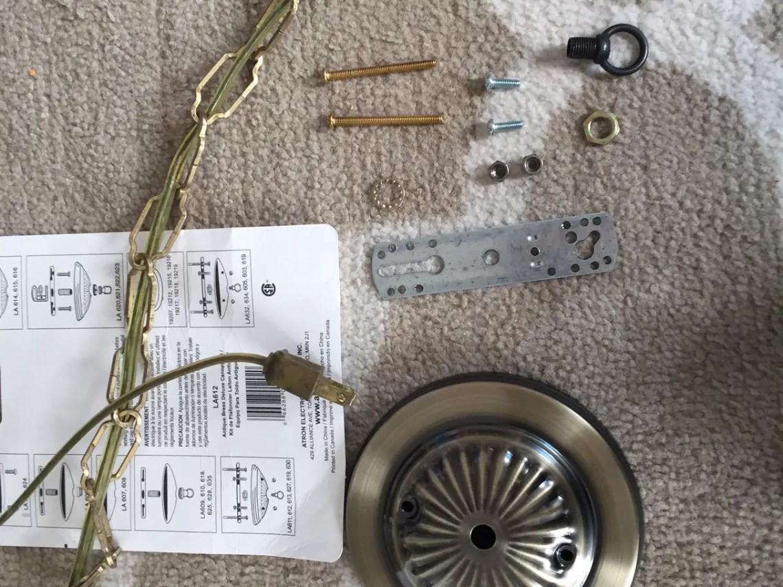 Antique lamp canopy kit