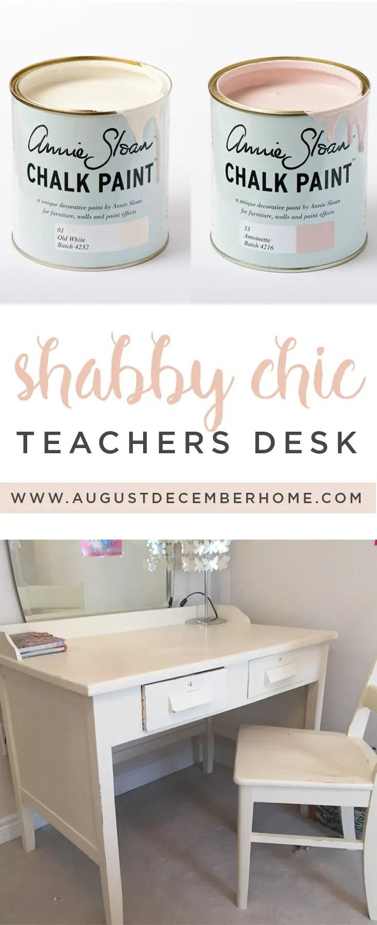 Shabby Chic Teachers Desk Pin