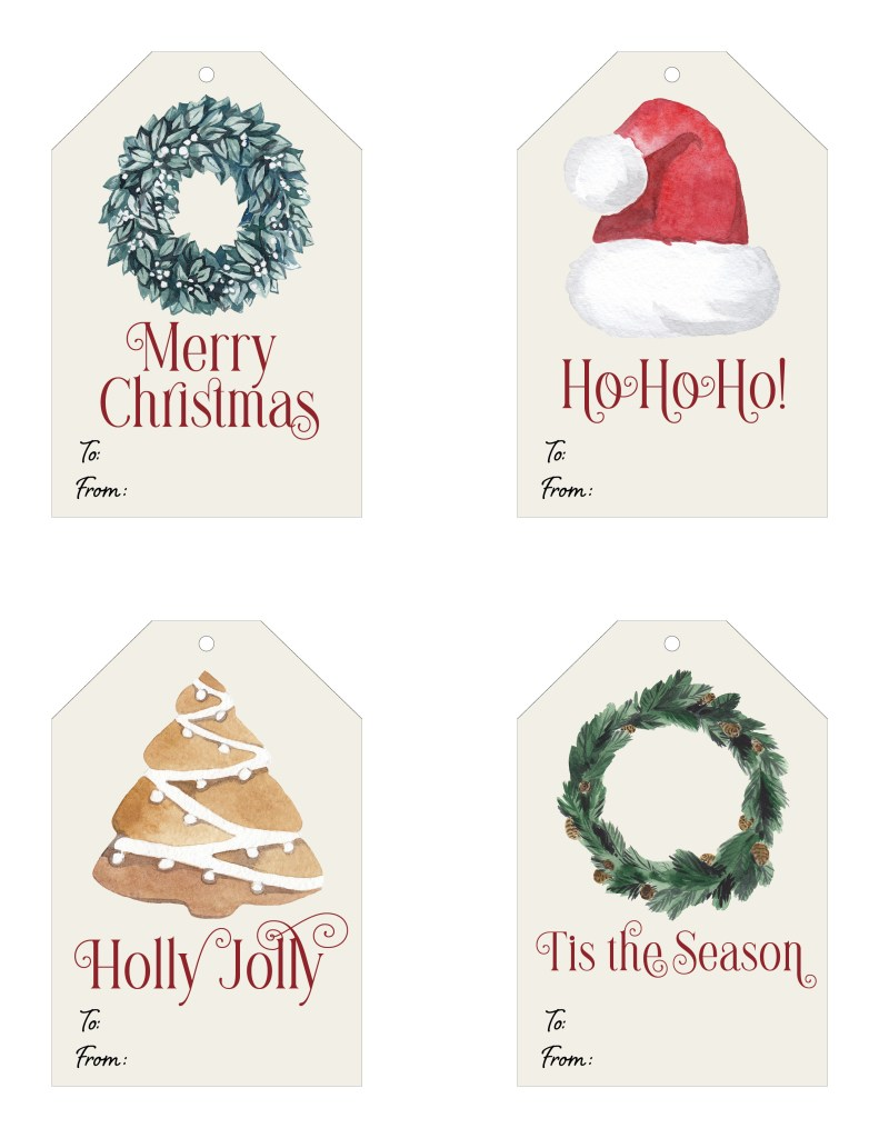 Holiday Gift Tags - Free Printable Tags for Christmas Presents - DIY Projects