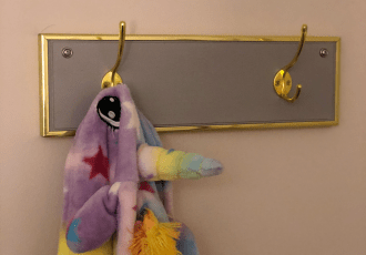 cute wall mounted coat rack for girls room