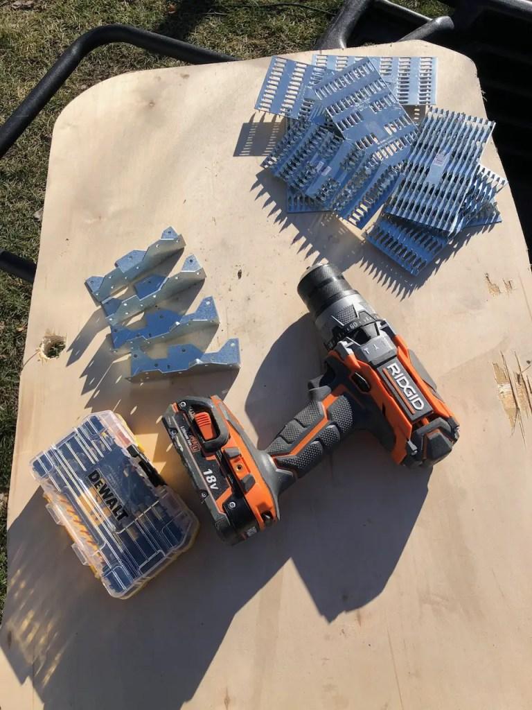 backyard rink materials