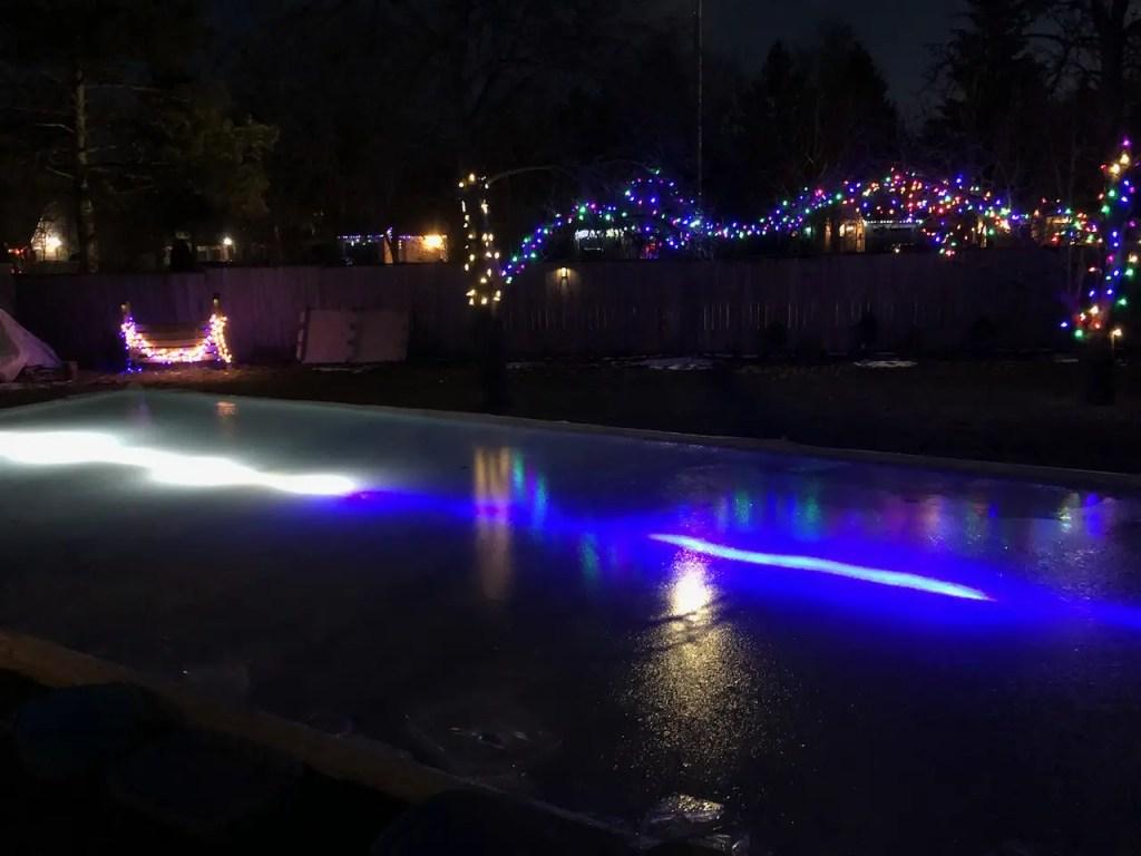 Backyard Skating Rink Lighting