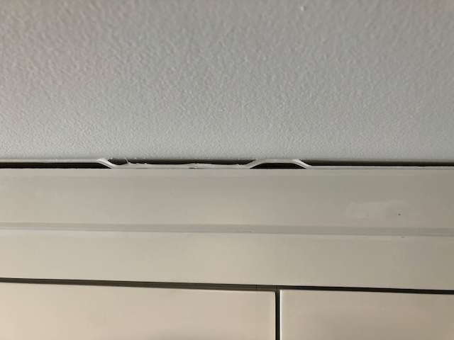 gaps in crown molding