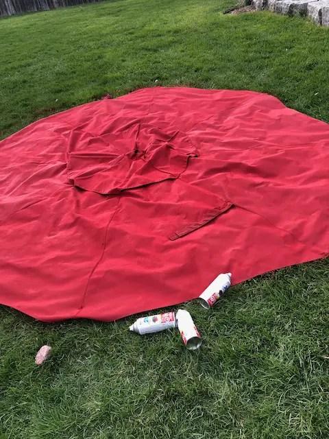 rustoleum 2x spray paint umbrella fabric
