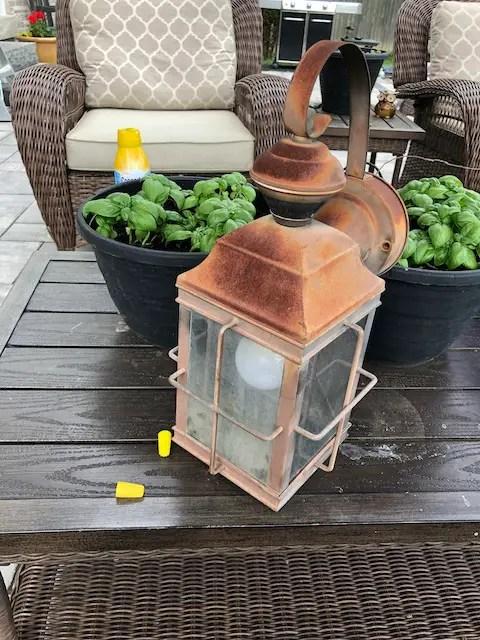 Rusty Exterior Light Fixture