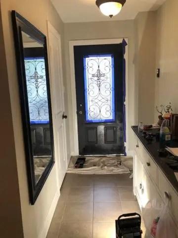 painting a front door flat matte black