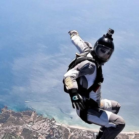 Skydiving Algarve landscape