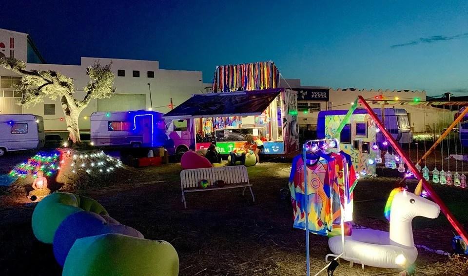 colorful art, art camp, art structure, skydiving art, art festival, burning spring, burning man art