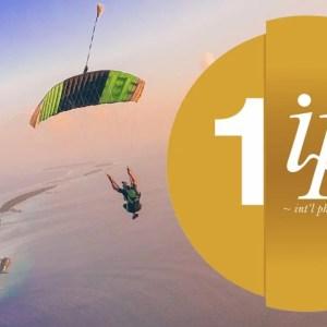 Skydiving, Maldives, Sky, Parachute, Nature, Sea, Ocean, Skydiver