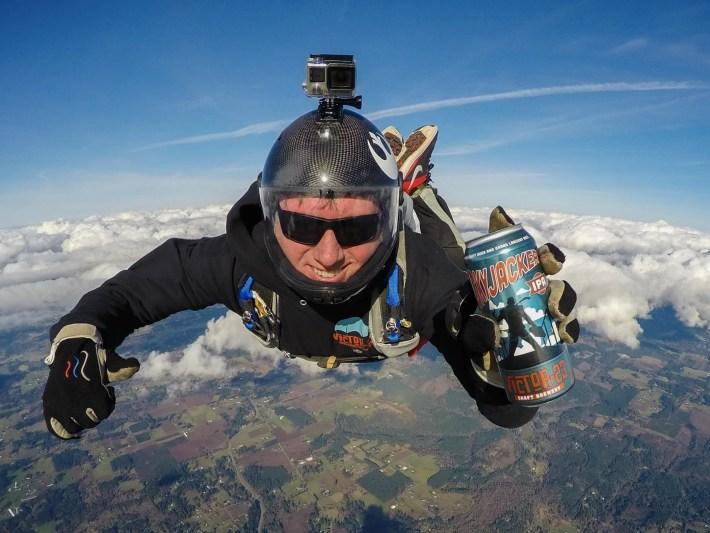 Beer fine Skydiving ritual