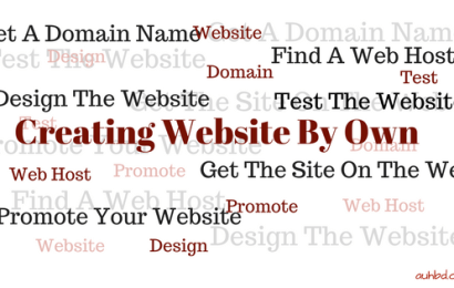 How To Create A Website By Yourself